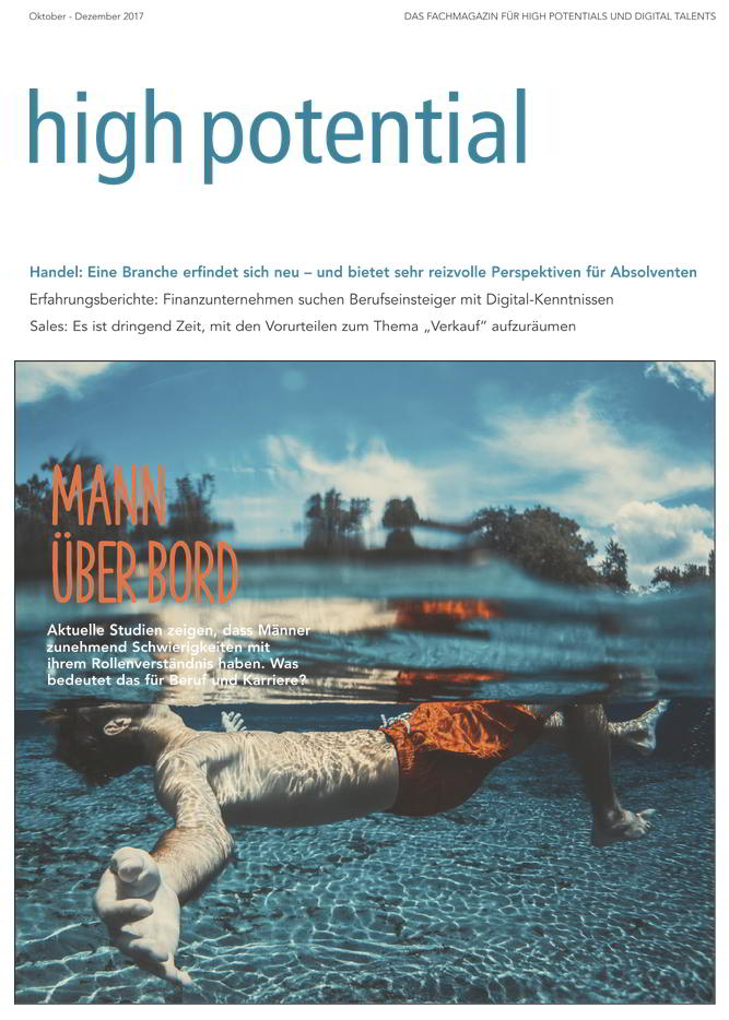 E-Paper high potential, high potential 3-17, high potential Printmagazin,high potential, cover high potential, high potential 3-17